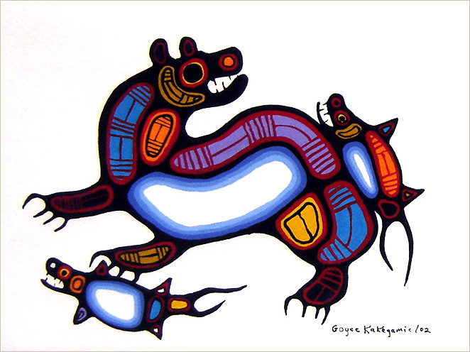 Goyce Kakegamic Bear and Fish