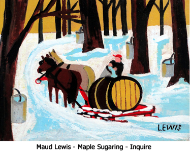 Maud Lewis Maple Sugaring