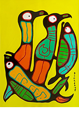 Norval Morrisseau Birds and Fish