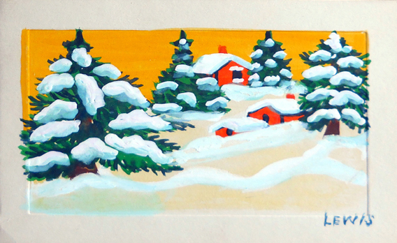 Maud Lewis Christmas Card